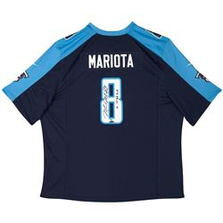 "Marcus Mariota Signed Titans Nike Jersey Inscribed ""15 1st Round Pick"" (UDA COA)"