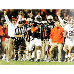 "Chris Davis Jr. Signed Auburn LE 24x32 Photo on Canvas Inscribed ""109 Yard Touchdown"", ""Kick Six""  """