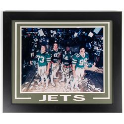 "Jets ""The Sack Exchange"" 23.5x27.5 Framed Photo Display Team-Signed by (4) with Mark Gastineau, Joe"