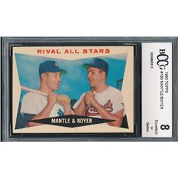 1960 Topps #160 Rival All-Stars Mickey Mantle / Ken Boyer (BCCG 8)