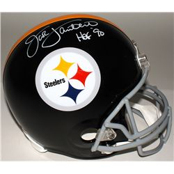 "Jack Lambert Signed Steelers Full-Size Helmet Inscribed ""HOF' 90"" (JSA COA)"