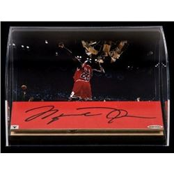 Michael Jordan Signed Chicago Bulls 1998 Game Used Floor Piece Display (UDA COA)