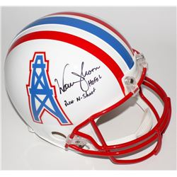 "Warren Moon Signed LE Oilers Full-Size Authentic Helmet Inscribed ""HOF 06""  ""Run-N-Shoot"" (Steiner C"