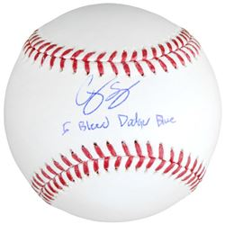 "Corey Seager Signed Baseball Inscribed ""I Bleed Dodger Blue"" (Fanatics  MLB)"