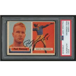 Paul Hornung Signed 1957 Topps #151 RC (PSA Encapsulated)