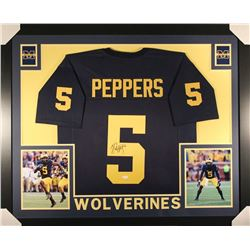 Jabrill Peppers Signed Michigan Wolverines 36x44 Custom Framed Jersey (JSA COA)