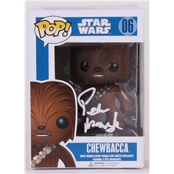 "Peter Mayhew Signed Star Wars ""Chewbacca"" Funko Pop Vinyl Figure (Radtke COA)"