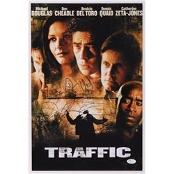 "Catherine Zeta-Jones  Dennis Quaid Signed ""Traffic"" 12x18 Photo (JSA COA)"