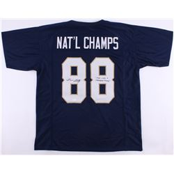 "Lou Holtz Signed Notre Dame Fighting Irish National Champs Jersey Inscribed ""Play Like A Champion"" ("