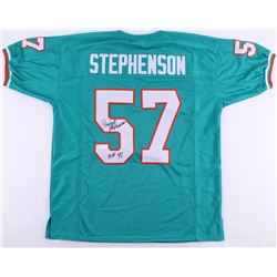 "Dwight Stephenson Signed Dolphins Jersey Inscribed ""HOF 98"" (JSA COA)"