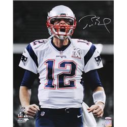 Tom Brady Signed LE Patriots Super Bowl LI 16x20 Photo (Steiner COA  TriStar Hologram)