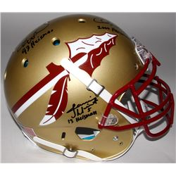 Jameis Winston, Charlie Ward  Chris Weinke Signed Florida State Seminoles Full-Size Authentic On-Fie