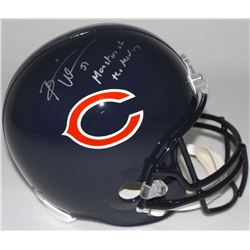 "Brian Urlacher Signed Bears Full-Size Helmet Inscribed ""Monsters of the Midway"" (Schwartz COA)"