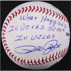 "Pete Rose Signed OML Baseball Inscribed ""What Happens In Vegas Stays In Vegas"" (Schwartz COA)"