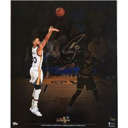 Stephen Curry Signed Warriors 2017 NBA Championship 20x24 Photo (Fanatics)