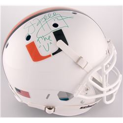 "Jim Kelly Signed University of Miami Full-Size Authentic On-Field Helmet Inscribed ""The ""U"""" (JSA CO"