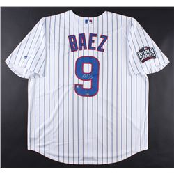 "Javier Baez Signed Cubs ""2016 World Series"" Jersey (Fanatics Hologram  MLB Hologram)"