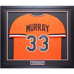 "Eddie Murray Signed Orioles 35"" x 43"" Custom Framed Jersey Inscribed ""HOF 2003"" (Beckett COA)"
