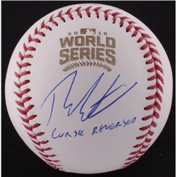 "Theo Epstein Signed Official 2016 World Series Baseball Inscribed ""Curse Reversed"" (Schwartz COA)"