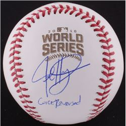 "Jed Hoyer Signed Official 2016 World Series Baseball Inscribed ""Curse Reversed"" (Schwartz COA)"