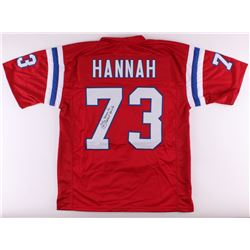 "John Hannah Signed Patriots Jersey Inscribed ""Patriot for Life"" (JSA COA)"