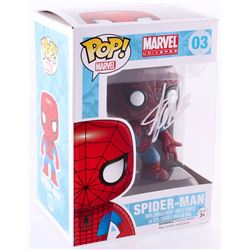 "Stan Lee Signed ""Spider-Man"" Marvel POP! Vinyl Figure (Radtke COA  Lee Hologram)"