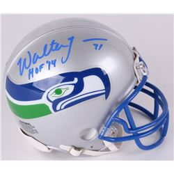 "Walter Jones Signed Seahawks Throwback Mini Helmet Inscribed ""HOF 14"" (Radtke COA)"