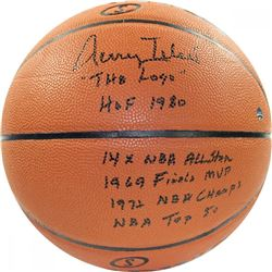 Jerry West Signed Basketball with (6) Inscriptions (Steiner)