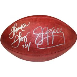 Thurman Thomas  Jim Kelly Signed Full-Size NFL Football (Steiner COA)