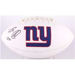 Eli Apple Signed Giants Logo Football (Radtke COA)