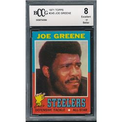 1971 Topps #245 Joe Greene RC (BCCG 8)