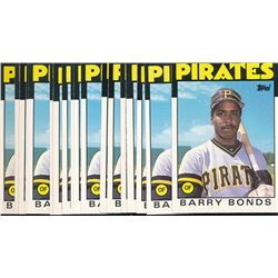 Lot of (15) 1986 Topps Traded #11T Barry Bonds RC