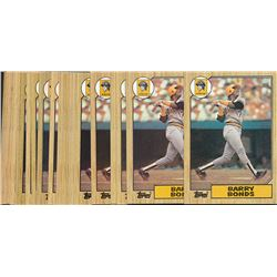 Lot of (25) 1987 Topps #320 Barry Bonds RC