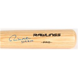 "Paul Molitor Signed Rawlings Pro Baseball Bat Inscribed ""3319 HITS"" (MLB Hologram)"