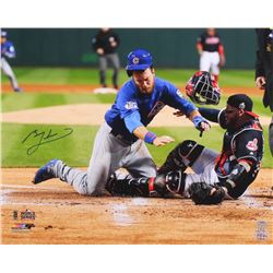 Ben Zobrist Signed Cubs 2016 World Series 16x20 Photo (Schwartz COA)