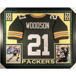 Charles Woodson Signed Packers 35x43 Custom Framed Jersey (PSA COA)