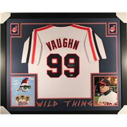 "Charlie Sheen Signed Major League ""Wild Thing"" 35""x43 Custom Framed Jersey (PSA COA)"