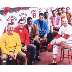 Red Schoendienst Signed Cardinals 16x20 Photo (JSA COA)