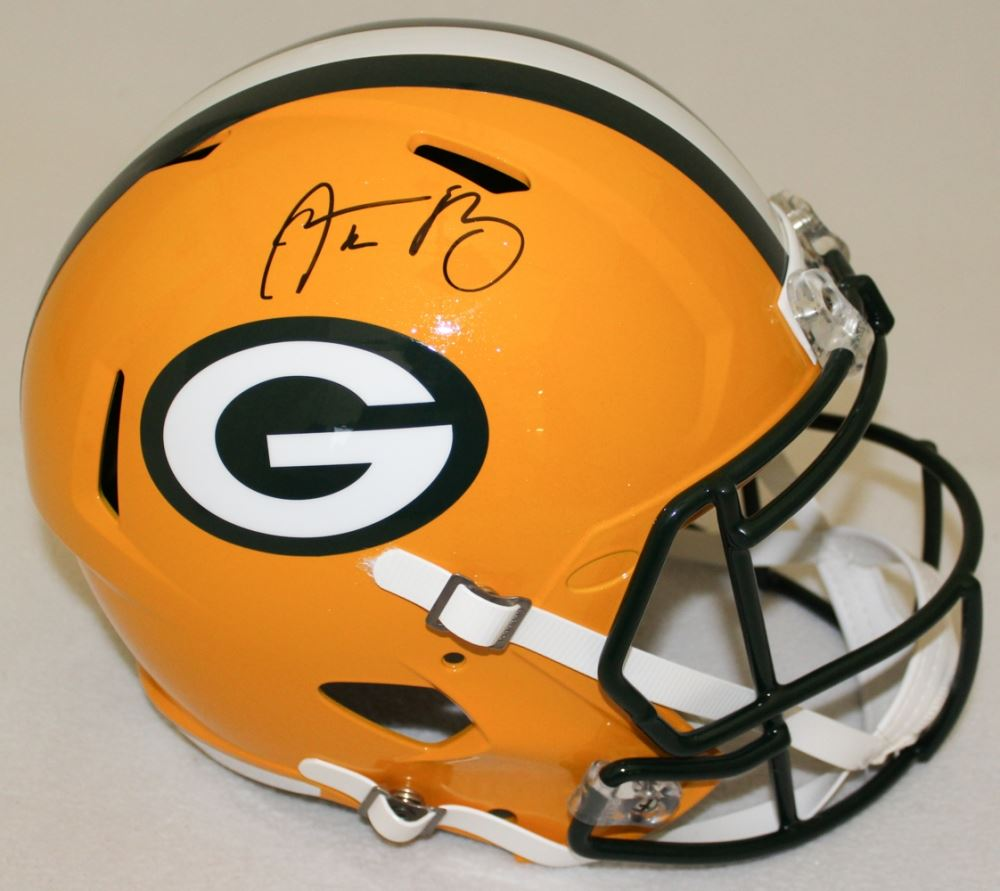 a61f1b7b3 Image 1   Aaron Rodgers Signed Packers Full-Size Speed Helmet (Radtke COA  Fanatics