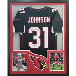 David Johnson Signed Cardinals 34x42 Custom Framed Jersey (Radtke COA)