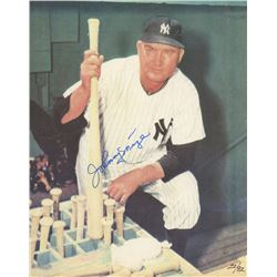 Johnny Mize Signed Yankees LE 8x10 Photo (JSA ALOA)
