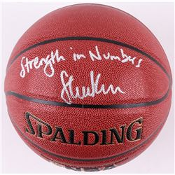 "Steve Kerr Signed Spalding Basketball ""Strength In Numbers"" (Schwartz COA)"