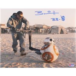 "Brian Herring Signed Star Wars ""BB-8"" 11x14 Photo Inscribed ""BB-8"" with Original BB-8 Sketch (PA COA"