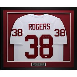 "George Rogers Signed South Carolina Game Cocks 32"" x 37"" Custom Framed Jersey Inscribed ""80 HT"" (JSA"