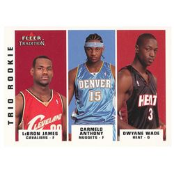 2003-04 Fleer Tradition #300 LeBron James RC / Carmelo Anthony RC / Dwyane Wade RC