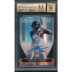 2011 Donruss Elite Extra Edition Prospects #P39 Francisco Lindor Autograph #548/557 (BGS 9.5)