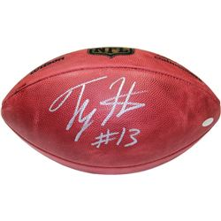 "T.Y. Hilton Signed ""The Duke"" Official NFL Game Ball (Steiner)"