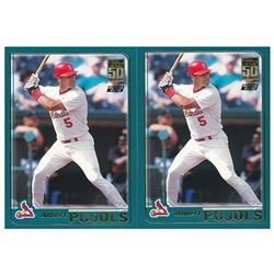 Lot of (2) 2001 Topps Traded #T247 Albert Pujols RC
