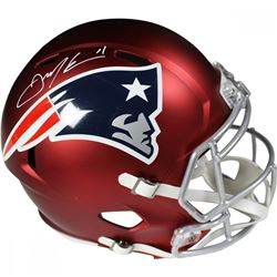 Julian Edelman Signed Patriots Full Size Blaze Speed Helmet (Steiner COA)