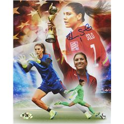 Hope Solo Signed Team USA 8x10 Photo (MAB Hologram)